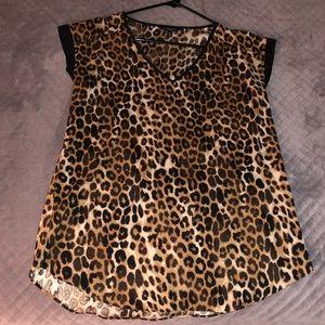 Express Women's Leopard Print Top